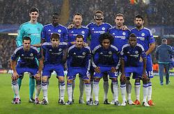 The Chelsea team line up for a photo - Mandatory byline: Paul Terry/JMP - 09/12/2015 - Football - Stamford Bridge - London, England - Chelsea v FC Porto - Champions League - Group G