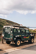 Surf school Land Rover at Vale Figueras beach, Western Algarve