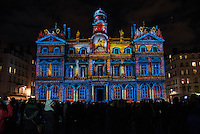 LYON, FRANCE - DECEMBER 07:Festival of Lights on December 7, 2013 in Lyon. <br />