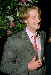 The EARL OF BURLINGTON, grandson of the Duke of Devonshire at a party in London on 30th June 1997.LZU 61 MOLO