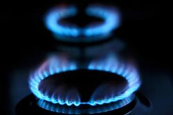 UK ENGLAND LONDON 17MAR12 - Gas flame on a kitchen hob...jre/Photo by Jiri Rezac..© Jiri Rezac 2012