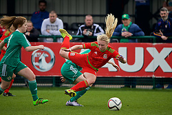 NEWPORT, WALES - Sunday, April 3, 2016: Wales' captain Elise Hughes in action against Northern Ireland during Day 3 of the Bob Docherty International Tournament 2016 at Dragon Park. (Pic by David Rawcliffe/Propaganda)
