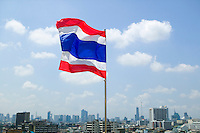 Flag flying over Bangkok Thailand&#xA;<br />