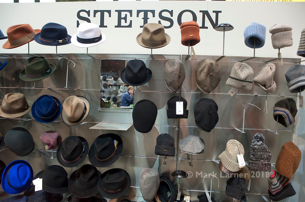 Picture shows Stetson Hats stand in The Lock at Bread and Butter Berlin, January 16-19th 2014.<br /> <br /> Credit should read: Picture by Mark Larner