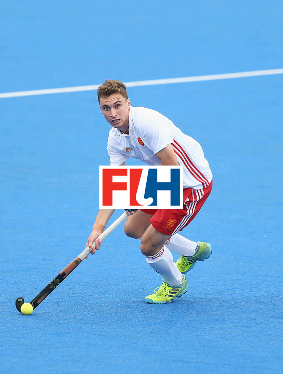 LONDON, ENGLAND - JUNE 24: Harry Martin of England in action during the semi-final match between England and the Netherlands on day eight of the Hero Hockey World League Semi-Final at Lee Valley Hockey and Tennis Centre on June 24, 2017 in London, England. (Photo by Steve Bardens/Getty Images)