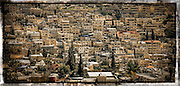 Silwan is an Arab neighborhood just outside the Old City of Jerusalem. Here it is bathed in sunlight in a glorious jumble of cubes.