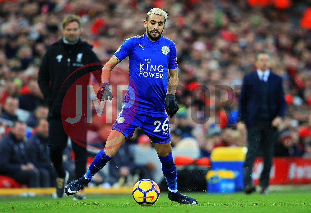 Riyad Mahrez of Leicester City - Mandatory by-line: Matt McNulty/JMP - 30/12/2017 - FOOTBALL - Anfield - Liverpool, England - Liverpool v Leicester City - Premier League