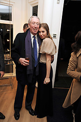 PETER BECKWITH and his granddaughter ANOUSKA BECKWITH at a private view of 'Most Wanted' an exhibition of photographs held at The Little Black Gallery, Park Walk, London on 27th November 2008.