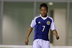 EDINBURGH, SCOTLAND - Tuesday, November 1, 2016: Scotland's Karaoke Dembele in action against Wales during the Under-16 2016 Victory Shield match at ORIAM. (Pic by David Rawcliffe/Propaganda)