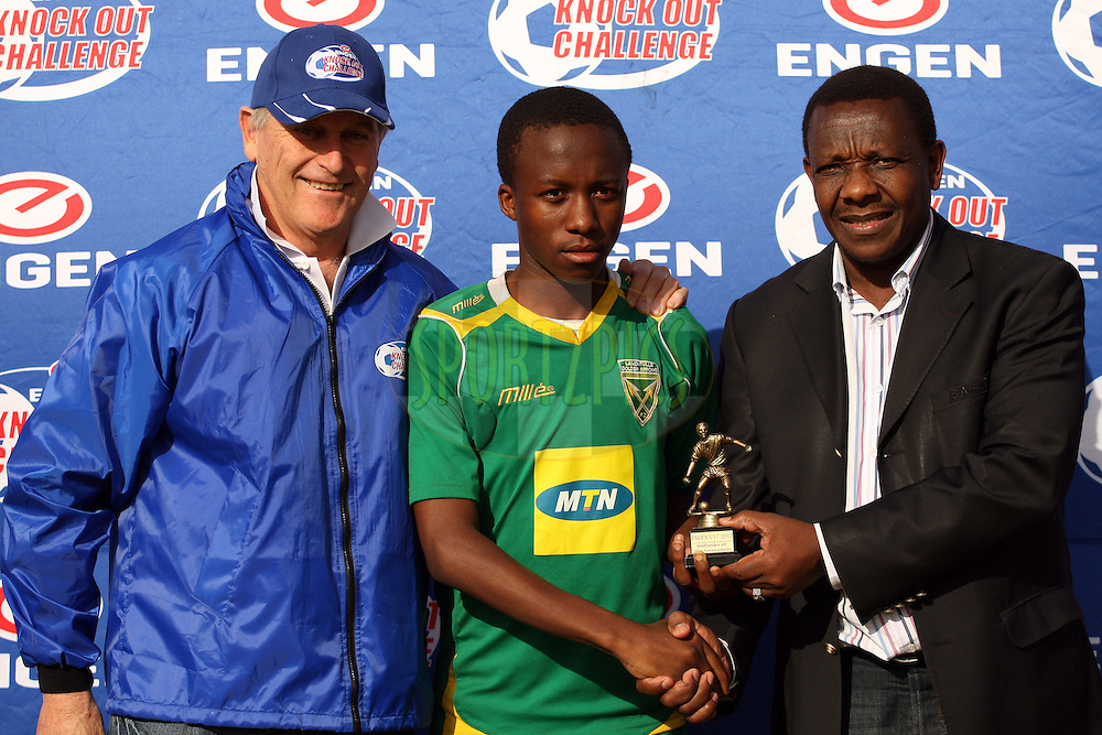 Midfielder of the tournament Sonke Ntuli during the final day of the Engen Knock Out Challenge 2012  held in Durban, Kwazulu Natal, South Africa on the 2nd September 2012..Photo by Jacques Rossouw/SPORTZPICS