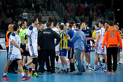 Team HC Prvo Plinarsko Drustvo Zagreb and RK Celje Pivovarna Lasko after  EHF Champions eague 2016/17 handball match between HC Prvo Plinarsko Drustvo Zagreb and RK Celje Pivovarna Lasko, on March 9th, 2017 in Arena Zagreb, Croatia. Photo by Martin Metelko / Sportida