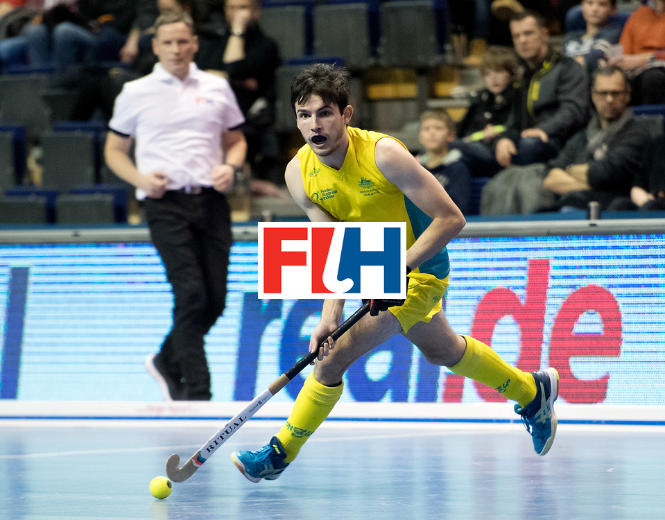 BERLIN - Indoor Hockey World Cup<br /> Quarterfinal 4: Australia - Belgium<br /> foto: James Knee.<br /> WORLDSPORTPICS COPYRIGHT FRANK UIJLENBROEK