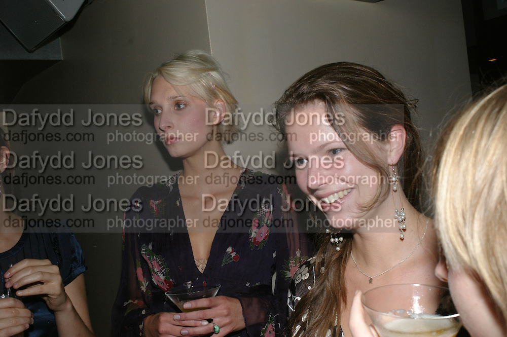 SARAH CASLETON AND ALICE CHANNER, The launch of ' Cooler, Faster, More Expensive, - the Return of the Sloane Ranger. By Peter York and Olivia Stewart-Liberty. Kitts. 7-12 Sloane sq. London. 15 October 2007. -DO NOT ARCHIVE-© Copyright Photograph by Dafydd Jones. 248 Clapham Rd. London SW9 0PZ. Tel 0207 820 0771. www.dafjones.com.