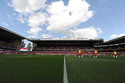 View inside the City Ground. - Photo mandatory by-line: Alex James/JMP - Mobile: 07966 386802 09/08/2014 - SPORT - FOOTBALL - Nottingham - City Ground - Nottingham Forest v Blackpool - Sky Bet Championship - First game of the season