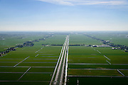 Nederland, Noord-Holland, Gemeente Purmerend, 20-04-2015; polder Wijdewormer, droogmakerij uit de 17e eeuw. Autosnelweg A7 doorsnijdt het gebied.<br /> Wijdewormer polder, reclaimed land dating from the 17th century. The original landscape has been affected by the construction of motorway A7.<br /> luchtfoto (toeslag op standard tarieven);<br /> aerial photo (additional fee required);<br /> copyright foto/photo Siebe Swart