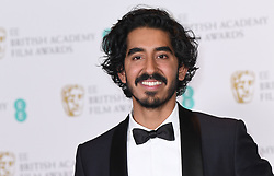 Dev Patel with the award for BEst Supporting Actor 'Lion' in the press room during the EE British Academy Film Awards held at the Royal Albert Hall, Kensington Gore, Kensington, London. Picture date: Sunday February 12, 2017. Photo credit should read: Doug Peters/ EMPICS Entertainment