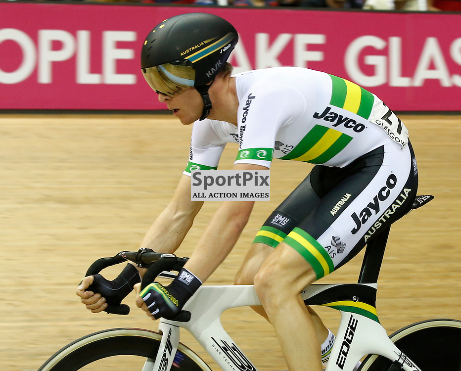 UCI Track Cycling World Cup Glasgow 4th - 6th November 2016. Cameron Meyer (AUS) gold medal winner in the Men's point race .....(c) STEPHEN LAWSON | SportPix.org.uk