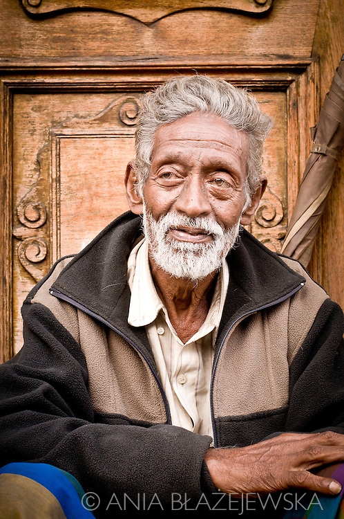 Sri Lanka, Kandy. Portrait of a man.