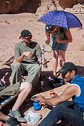 People smoking with a hookah at Middle East Tek, Wadi Rum, Jordan, 2008