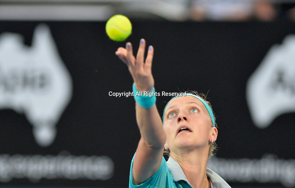 14.01.2015. Sydney, Australia. Apia Tennis International. Petra Kvitova (CZE)in action against Jarmila Gajdosova (AUS)