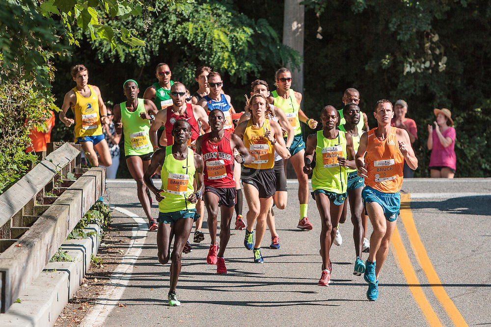 Falmouth Road Race lead group of elite men in early stage of race