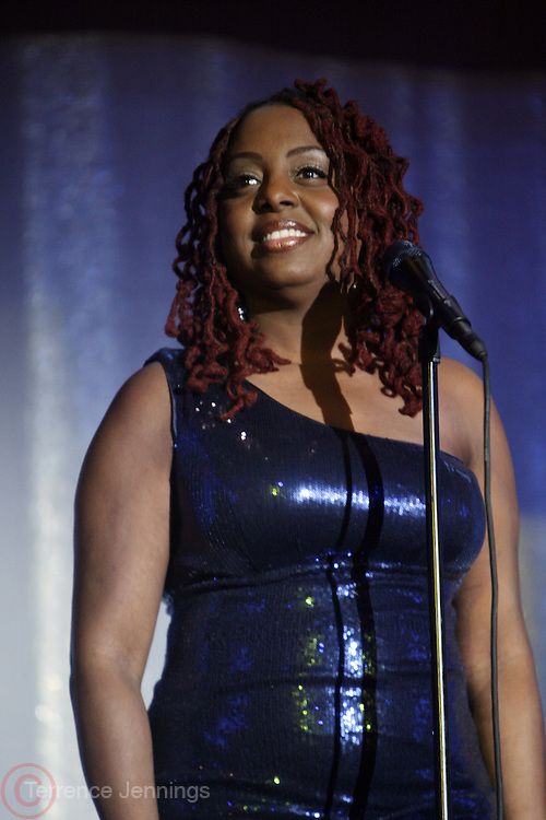 """New York, NY- MARCH 1:  Recording Artist Ledisi performs at the UNCF """" A Mind is """" Gala held at the Marriott Marquis Hotel on March 1, 2012 in New York City. Photo Credit: Terrence Jennings"""