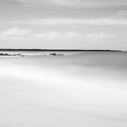 Makena Big Beach Maui Hawaii black and white panorama photo. Big Beach is in Wailea-Makena Hawaii and is one of Maui's most popular beaches. Panoramic photo ratio is 1:3. Copyright ⓒ 2019 Paul Velgos with All Rights Reserved.