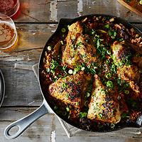 Creole Chicken with Mushroom Dirty Rice