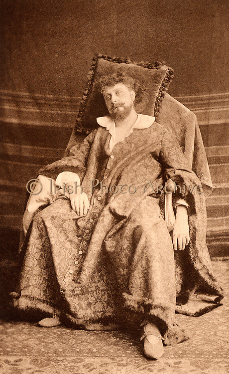(George) Osmond Tearle (1852-1901) English actor-manager and fine Shakespearian actor. Here as the king in the history play  'King John' by William Shakespeare. Photogravure published c1895.