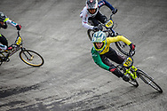 #126 during practice at the 2018 UCI BMX World Championships in Baku, Azerbaijan.