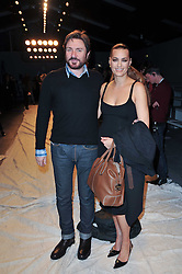 SIMON & YASMIN LE BON at the Issa Autumn Winter 2011 fashion show as part of the London Fashion Week held at Somerset House, Strand, London on 19th February 2011.