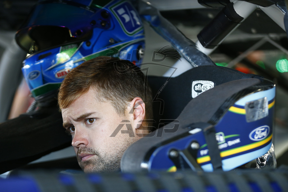 September 23, 2017 - Loudon, New Hampshire, USA: Ricky Stenhouse Jr (17) hangs out in the garage during practice for the ISM Connect 300 at New Hampshire Motor Speedway in Loudon, New Hampshire.