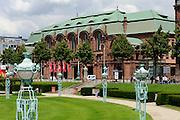 Friedrichsplatz mit Rosengarten, Mannheim, Baden-Württemberg, Deutschland | art nouveau city hall Rosengarten, Mannheim, Baden-Wurttemberg, Germany