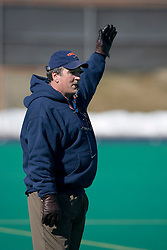 Virginia Cavaliers Head Coach Don Starsia.  The #1 ranked Virginia Cavaliers Men's Lacrosse team scrimmaged the #6 Georgetown Hoyas at the University of Virginia's Turf Field in Charlottesville, VA on February 10, 2007.
