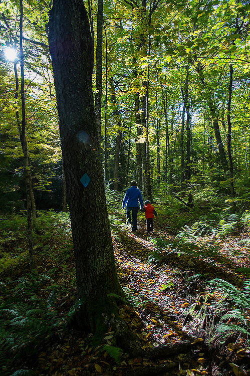 A family hike in the Hiawatha National Forest of Michigan's Upper Peninsula.