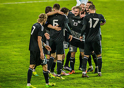 Belarus players celebrate goal during friendly football match between National teams of Slovenia and Belarus, on March 27, 2018 in SRC Stozice, Ljubljana, Slovenia. Photo by Vid Ponikvar / Sportida