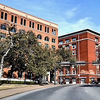 Texas School Book Depository Building Facing Dealey Plaza in Dallas, Texas<br />