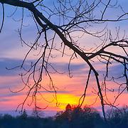 Sunset on Lake Quannapowitt, Wakefield, Massachusetts