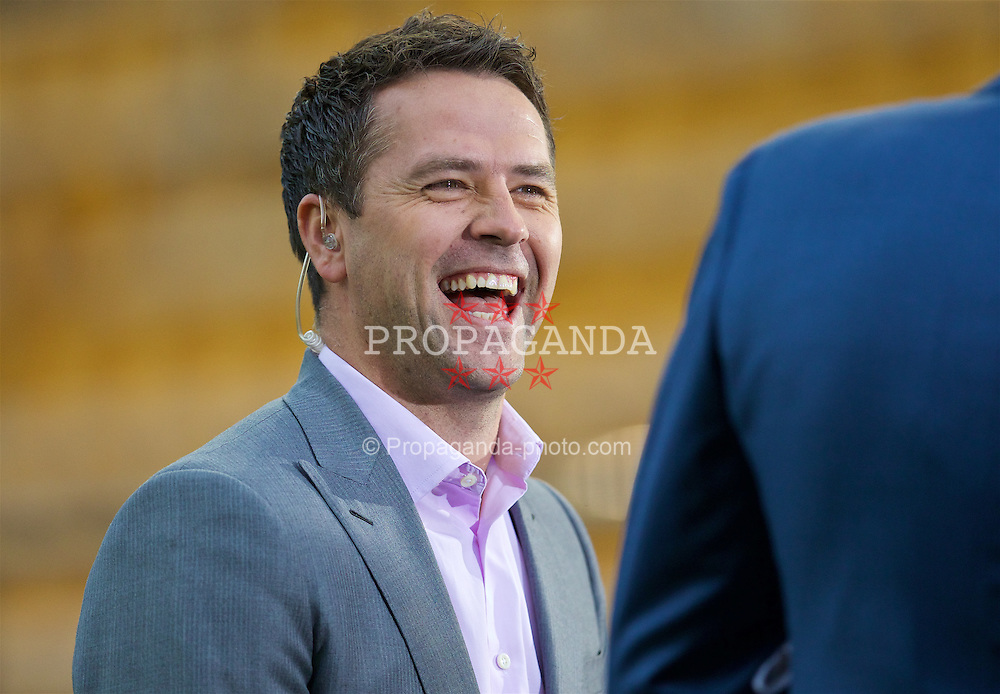 VILLRREAL, SPAIN - Thursday, April 28, 2016: Former Liverpool player Michael Owen before the UEFA Europa League Semi-Final 1st Leg match against Villarreal CF at Estadio El Madrigal. (Pic by David Rawcliffe/Propaganda)