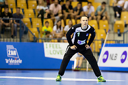 Mark Ferjan of Slovenia during handball match between National teams of Portugal and Slovenia in Semifinal of 2018 EHF U20 Men's European Championship, on July 27, 2018 in Arena Zlatorog, Celje, Slovenia. Photo by Urban Urbanc / Sportida