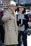 Apr 06, 2016 - New York, NY, USA - Woody Allen seen filming on location of the Woody Allen Amazon Series. With Soon-Yi Previn and Elaine May. <br />