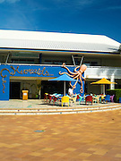Mermaids Restaurant  by the pool at Daydream Island Resort; Whitsunday Islands, QLD, Australia.