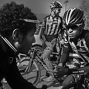 "Natnael Berthane (Erythee) et Merhawi Kudus (Erythee). MTN Team Qhubeka the first African cycling team to compete in the Tour de France 2015 - Team MTN-Qhubeka was founded in 2007, steadily working its way up from a regional team to now being a Continental Pro Team with bases in south Africa and Italy. MTN-Qhubeka p/b Samsung's goal is to give talented African riders a path into the propeloton, while raising funds for the Qhubeka Charity. Qhubeka is an Nguni(Zulu, Xhosa) word that means ""to carry on"", ""to progress"",""to move forward"".Qhubeka helps people move forward and progress by giving bicycles in return for work done to improve communities the environment or academic results."