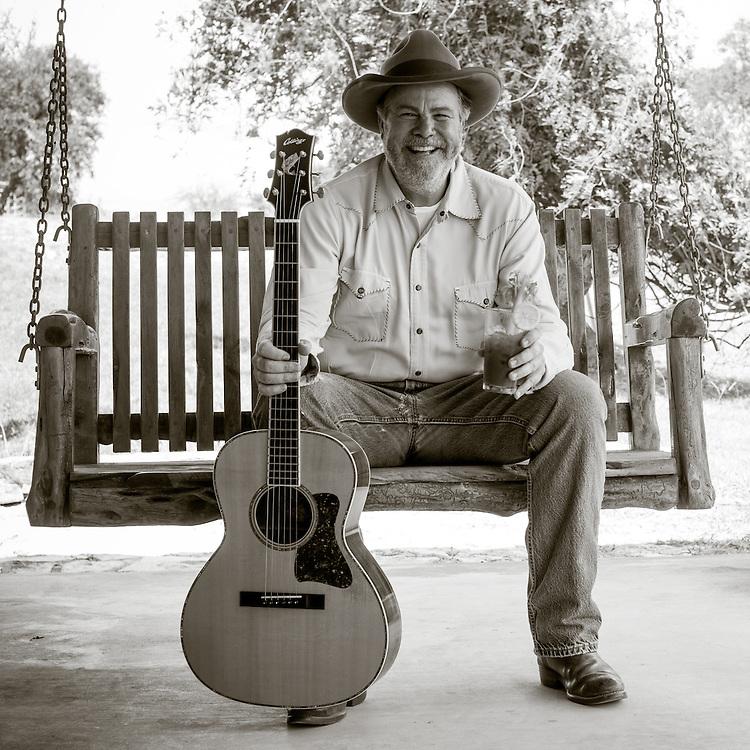 MEDINA, TX - JULY 10: Robert Earl Keen, photographed in Medina, TX on July 10, 2014. ©2014 Darren Carroll