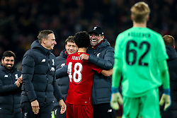 Liverpool manager Jurgen Klopp celebrates victory over Arsenal with Curtis Jones of Liverpool - Mandatory by-line: Robbie Stephenson/JMP - 30/10/2019 - FOOTBALL - Anfield - Liverpool, England - Liverpool v Arsenal - Carabao Cup