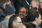 Michel Platini during the Champions League match between Paris Saint-Germain and Chelsea at Parc des Princes, Paris, France on 17 February 2015. Photo by Phil Duncan.