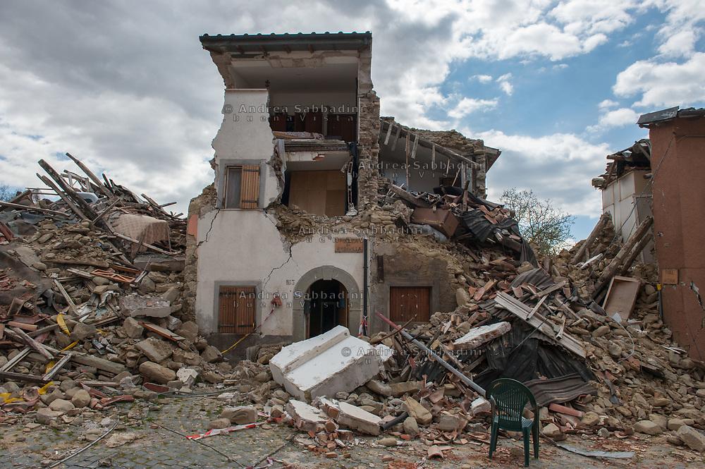 Sommati, 13/04/2017: case danneggiate dal terremoto.<br /> &copy; Andrea Sabbadini