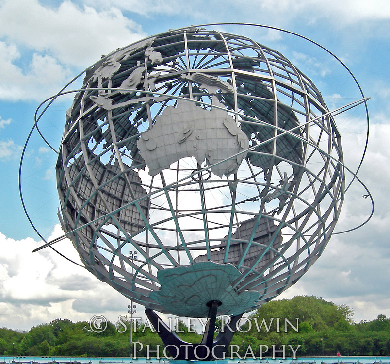 Unisphere Stainless Steel Globe at Flushing Meadows Corona Park