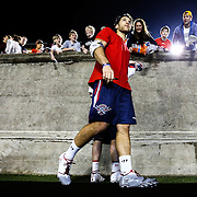 Paul Rabil #99 of the Boston Cannons is seen following the game at Harvard Stadium on May 10, 2014 in Boston, Massachusetts. (Photo by Elan Kawesch)