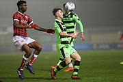 Forest Green Rovers Kieron Proctor(11) controls the ball during the Gloucestershire Senior Cup match between Forest Green Rovers and U23 Bristol City at the New Lawn, Forest Green, United Kingdom on 9 April 2018. Picture by Shane Healey.